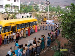 WW Day BT Organized Wak for Water by Sun School Children